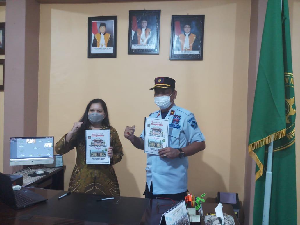 Penandatanganan Kerjasama LAPAS Tanjungpandan dengan Pengadilan Negeri Tanjungpandan terkait Overstaying